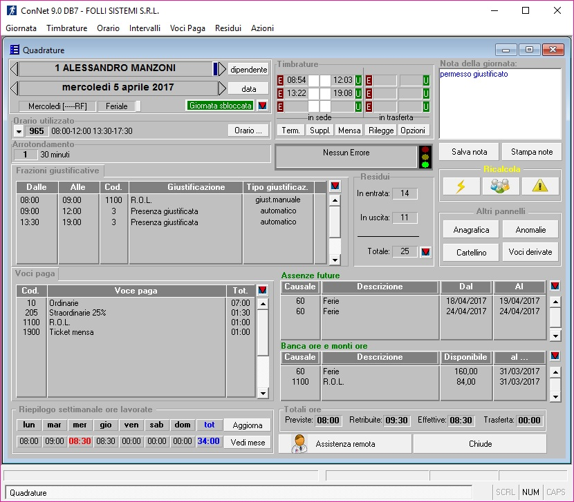 Software ConNet gestione presenze